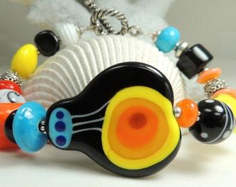TAKE FLIGHT in my Beautiful Balloon Handmade Lampwork Bead Bracelet