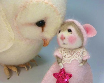 Needle Felted Animal Tutorial / Needle Felted Pattern / Needle Felted Mouse & Bunny / Needle Felting / Wool Roving