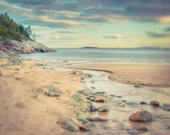 Beach Photograph, Maine Landscape Photography Print, Ocean Photo Fine Art Print, Nature Photograph, Beach Photography