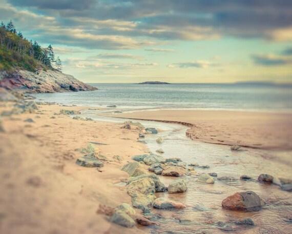 Beach Photograph, Maine Landscape Photography Print, Ocean Photo Fine Art Print, Nature Photograph, Beach Photography