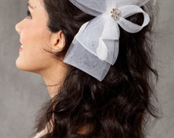 Horsehair/ Crinoline Wedding Bridal Fascinator headpiece