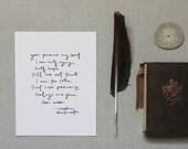 8x10 screen print- Captain Wentworth - Jane Austen - Persuasion