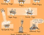 Bunny Emotions Art Print
