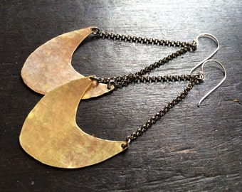 Large Pendulum Earrings - Brass