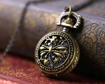 Brass Pocket Watch Necklace number 11