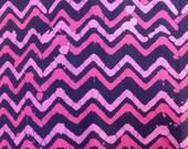 fabric cotton Indian batik pink and navy blue