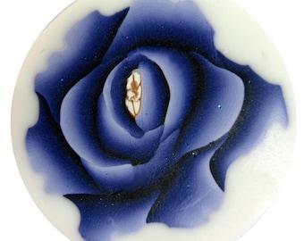 Polymer clay millefiore cane - bluish-purple flower