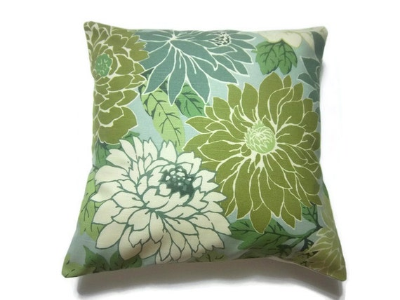 Celery Green Throw Pillow : Decorative Pillow Cover Mint Green Off White by LynnesThisandThat