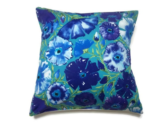 Blue Purple Throw Pillows : Items similar to Decorative Pillow Cover Purple Blue Chartreuse White Mint Green Handmade Toss ...