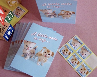 Mini Vintage Toy Cards with Stamps