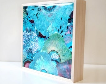 Thrive - Resin-Coated Print on Wood Panel