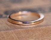 Thin rose gold band, 2mm wedding band, solid gold ring, 14k rose gold wedding band, wedding ring or stacking, pink gold ring, custom made