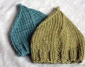 Organic Cotton and  Wool Gnome Hat - Bayou Blue OR Peat Green