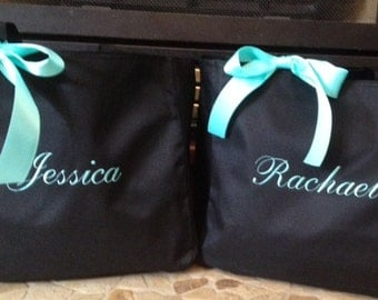 Bride Tote Bag Bridesmaid Personalized - set of 6 - monogrammed embroidered bridal party