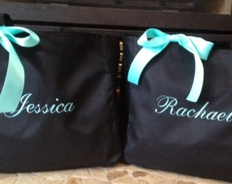 Bride Tote Bag Bridesmaid Personalized - Set of 4 - monogrammed embroidered totes christmas bag bridal party bag