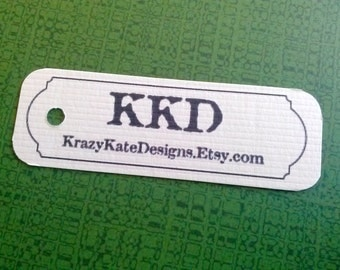 Personalized - 50 Product Tags - Personalized Tags - 1x3