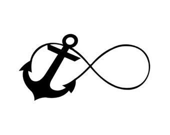 Infinity Anchor I Refuse To Sink Rubber Stamp