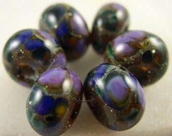 Organic Jewel - Lampwork Beads (6) - Libelula Designs, SRA
