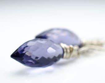 Iolite Quartz Sterling Silver Iola Earrings