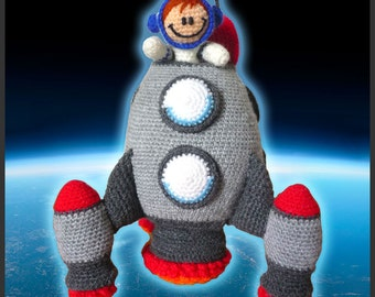 Amigurumi Pattern Crochet Spaceship and Astronaut DIY Instant Digital Download PDF