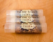 Toffee Crunch Lip Balm, Shea Butter, Sweet Caramel Scent, Lip Salve, Round Tube, Candy  Fall Flavor, Round Lip Tube, Wedding Favor