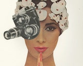 camera art - I Spy.  Original collage by Vivienne Strauss.