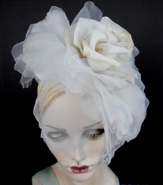 Large Rose Headpiece For Wedding Or Special Occassion