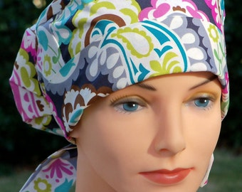 Scrub Hats for Women - Small to Medium with Fabric Ties - Boho