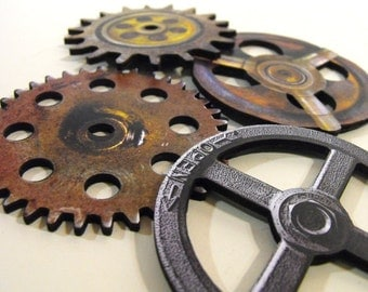 Big Wood Wheels and Gears - Wooden Laser Cut Craft Parts