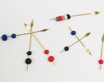 Spearrings - Red, Blue, Black