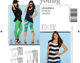 Burda Style Sewing PATTERN - 7382 Leggings - Sz 6 - 16