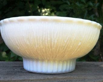 Vintage 1975 FTD Milk Glass Bowl Textured Mod Mid Century Minimalist Clean Sleek epsteam