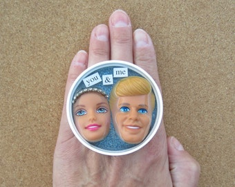 You and Me - Barbie and Ken knuckle ring