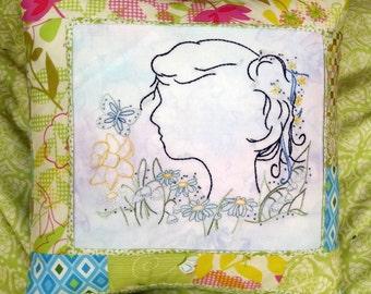 Garden Girl Hand Embroidery PDF Pattern Instant Digital Download