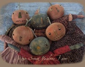 Country Pumpkins  Primitive Dolls and Candy Corn ornies E-PATTERN