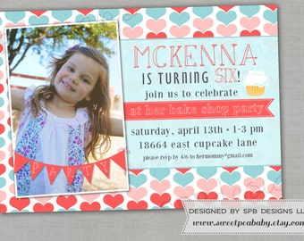 Birthday Party Invitation -- Bake Shop