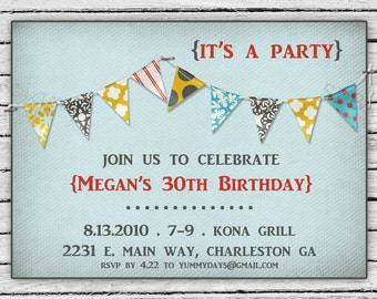 Birthday Party Invitation -- Rustic Celebration