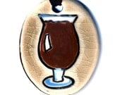 Craft Beer Cearamic Necklace in Crackle