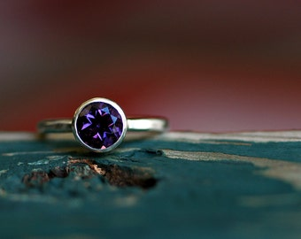 Amethyst Ring -  Amethyst Engagement Ring - Birthstone Ring - February Birthstone - Alternative Engagement Ring Ring - Sterling Silver R4062