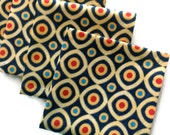 Cocktail Napkins Beverage Napkins Appetizer Napkins 100% Cotton  - set of 6