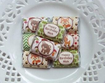 Printable Woodland Animals Birthday Mini Candy Bar Wrappers