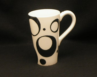 Mug. Open Circle. Tall Mug. Handmade by Sara Hunter Designs