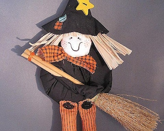 Adorable Hanging Halloween Witch Decoration