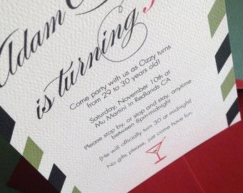 Martini Party invitation, set of 10