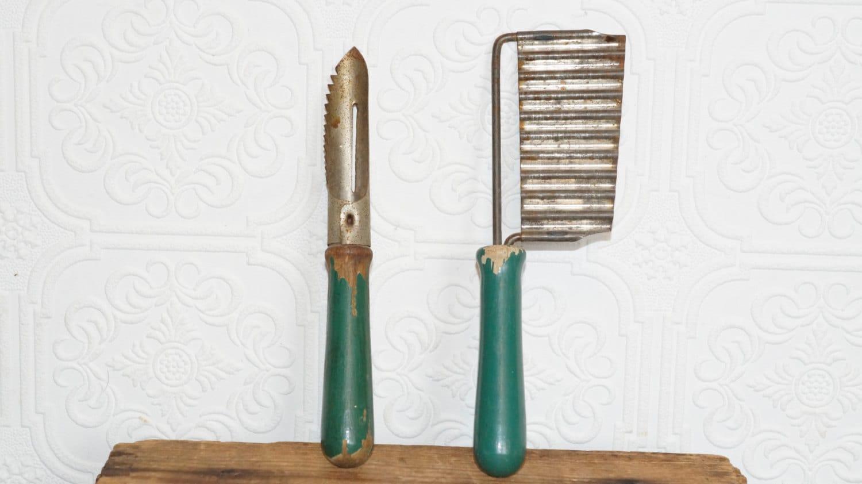 Vintage Antique Kitchen Utensils Green By LittleKingVintage