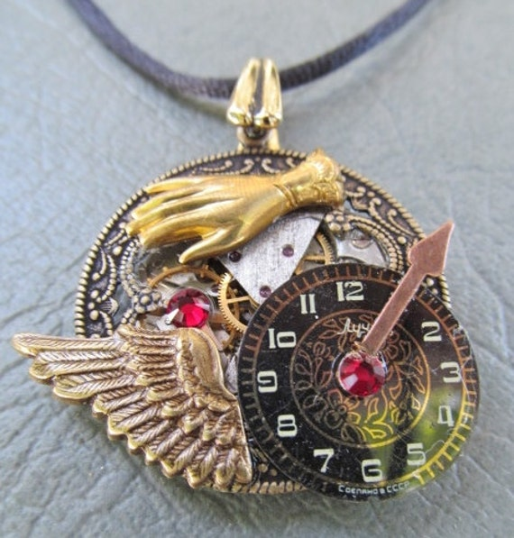 Vintage Watch parts necklace