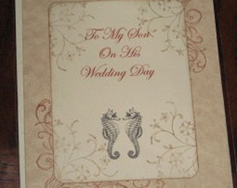 To My Son On His Wedding Day Card