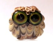 Reserved for Angel - Wide Eyed Lampwork Owl Bead