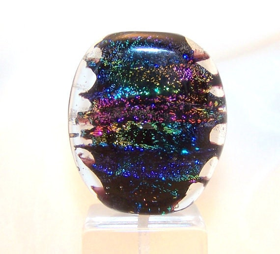 Focal Lampwork Bead Sparkling Multi Colored Dichroic