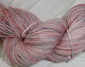 Fairy Sock Silver Rosie's Shadow hand dyed sock weight yarn 438 yds